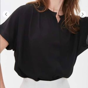 """NWT Women's Black """"Button-Down"""" Style Short Sleeve"""